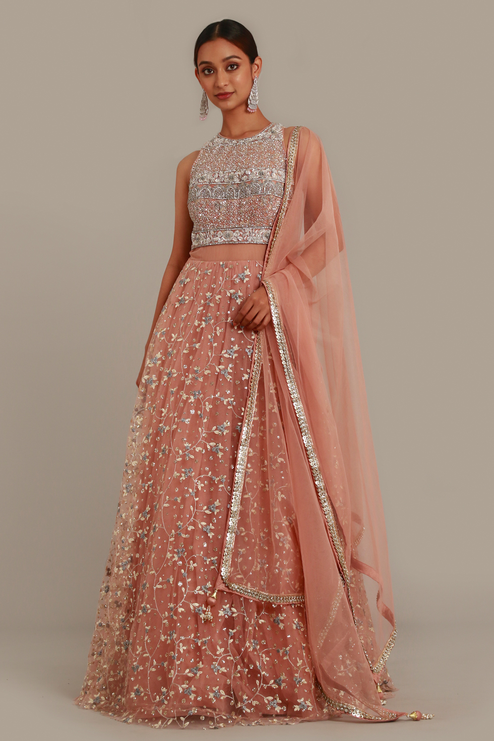 Petal Pink Anarkali Gown Set